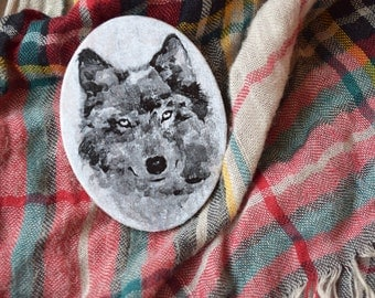 Wolf brooch Wood wolf pin animal Teen wolf jewelry Woodland Girlfriend gift Teen girl gift Teen boy gift Boyfriend gift Native american gift