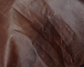 EMB21 Leather Cow Hide Cowhide Craft Fabric Brown Embossed Chain Link 30 sq ft  FREE SHIPPING
