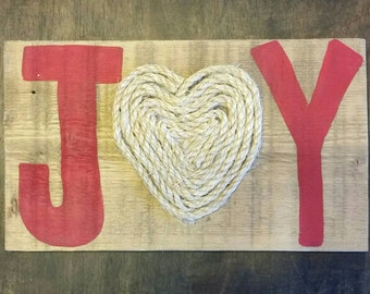 Joy sign, christmas sign, holiday sign