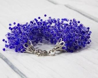 Gifts for Daughter gifts something blue bracelets beaded stretch bracelet wrap bracelet beaded bracelet everyday bracelet Natural bracelets