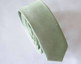 sage green tie for men,mens tie