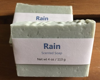 Rain Scented Cold Process Soap with Shea Butter