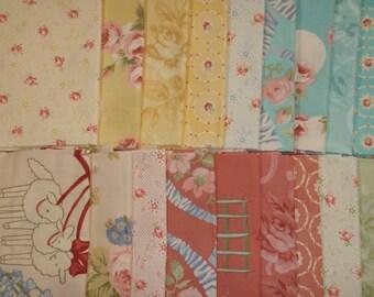 18 Robyn Pandolph Rose Cream Pink Little Bo Peep BonBon Bebe Shabby Fat Quarters Fabric
