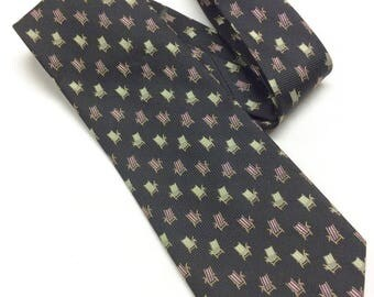 Vintage Tommy Bahama Necktie Off Island Tie By Tommy Bahama Black Beach Chairs Silk Necktie Hand Made in China