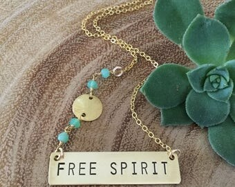 Free Spirit Bar Necklace