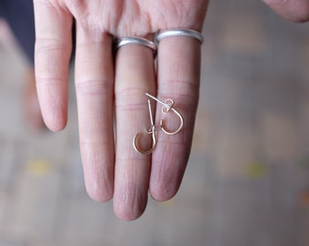 Tiny Hoop Earrings - 14k Gold Filled and Sterling Silver