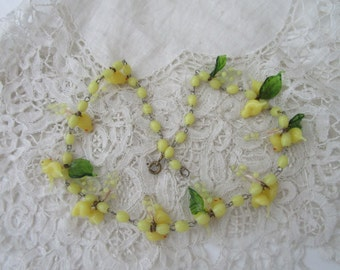 Vintage glass necklace for re-purpose