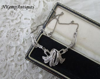 1930's silver marcasite necklace
