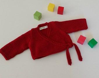 Knitting Pattern for Ballerina Baby Cardigan