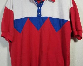 Vintage Mureli Snap Button Collared Shirt Size Medium