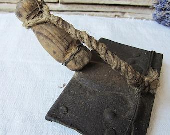Rare Antique Primitive Toool Wood Handle Handmade Tools Leather Working Tools Hand Tool Farmhouse Decor rust Tool Old Tools Rustic Tools