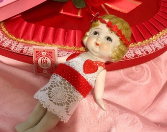 Lovely, Up-Scaled, Antique, Carnival Doll