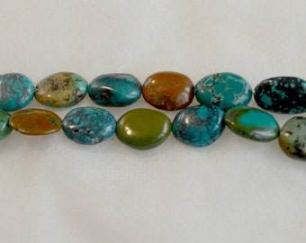 Natural Un-Dyed Turquoise Oval Beads