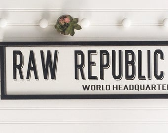 Custom sign. Personalized Sign . Your Saying Goes Here . Industrial . Minimalist . 36 x 8 . Large sign . Your Quote Sign