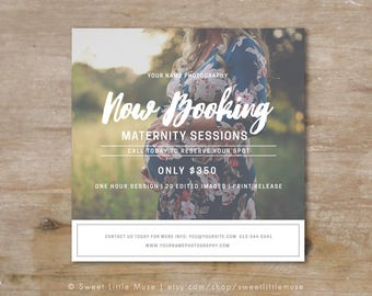 Maternity Session Template - photography marketing template - Maternity mini session template - Mini Session Template