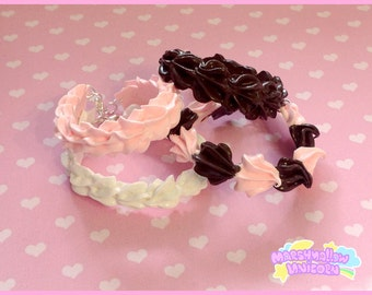 Whipped cream bracelet sweet and cute