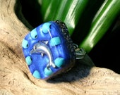 Turquoise Orgone Ring – Healing Lightworker Jewellery - Sterling Silver Ring