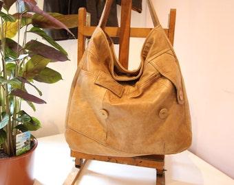 Upcycled Leather Jacket ,Leather Bag,Repurposed,jacket-to-bag,reclaimed leather,Upcycled leather Hobo,shoulder bag,eco leather bag