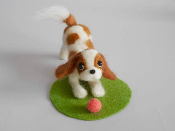READY TO SHIP/ Needle Felted / Cavalier King Charles Spaniel /Blenheim1[HiMeg/Etsy]