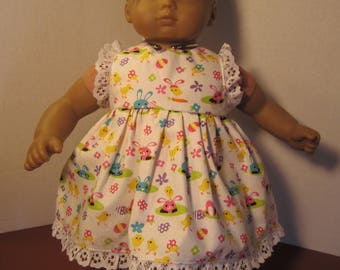 Bitty Baby dress with lace