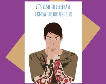Stefon greeting card - Hottest club - Funny greeting card