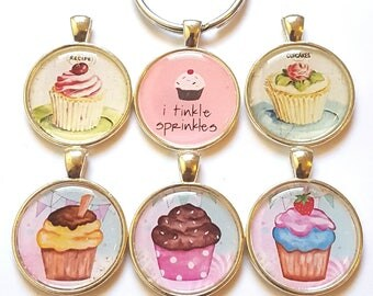 Cupcake Keychain Cupcake GIft