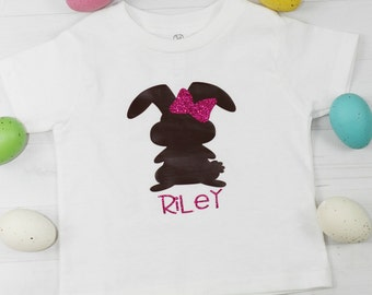 Chocolate bunny shirt, Chocolate bunny, Girls Easter shirt, Easter shirt, Bunny shirt, Easter Bunny, Easter bunny shirt, Girly bunny
