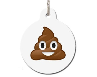 Personalized Poop Emoji Pet ID Tag for Dogs & Cats