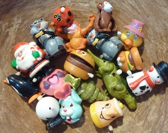17 Mechanical Action Toys Plastic Wind Up Lot Party Favor Supply (#111)