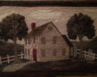 Pattern: Old Country Home Rug Hooking Pattern by Cricket Street Wool