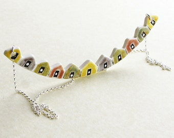 Beach Huts necklace