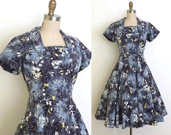 vintage 1950s dress | 50s Hawaiian cotton dress