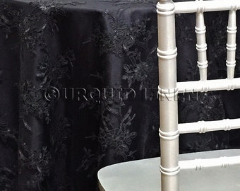 High Quality Laylani Lace Tablecloth In Black   Ideal For Weddings U0026 Bridal Events
