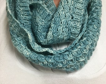 Robins Egg Blue Hand Knit Cowl