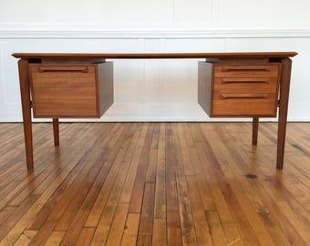 Rare Midcentury Danish Teak Desk by IB Kofod Larsen for Seffle Mobelfabrik