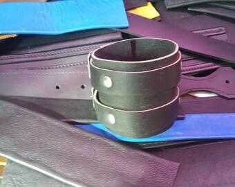 Bracelets Cuffs Black Leather Restraint Bracelets