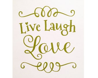 Live Laugh Love Decal, Love Decal, Car Decal, Girl Decal, Home Decor Decal, Pink Decal, Quote Decal, Vinyl Decal, Laptop Decal, Wall Decal