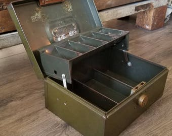 Metal cash box etsy for Awesome money box