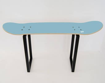 Ideas for a teen boy's bedroom with skate Stool blue sky for 12th or any age Birthday gift personalised skate