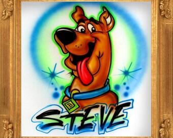 Brown Dog airbrush t-shirt