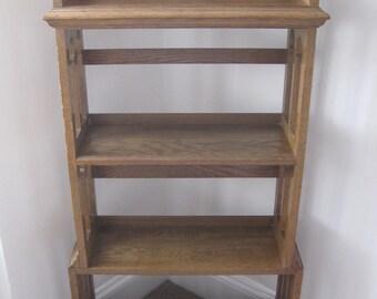 Arts and Crafts Light Oak Liberty Style Bookcase