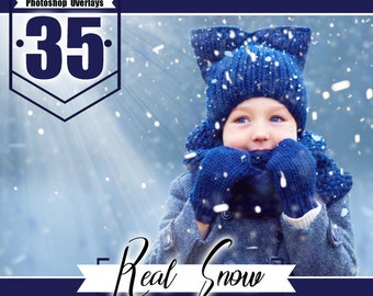 35 real snow overlays, snow textures, snow effects, fairy magic winter, blowing snow, Photoshop overlay, snow background PNG files