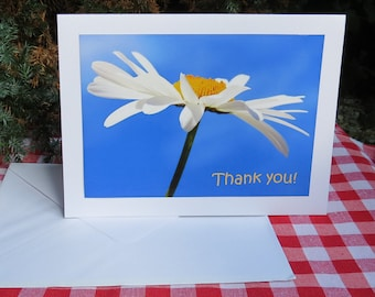 Thank you!  A thank you card, left blank inside for your own message.