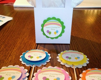 Rainbow party Coming out party birthday party Custom personalized rainbow party