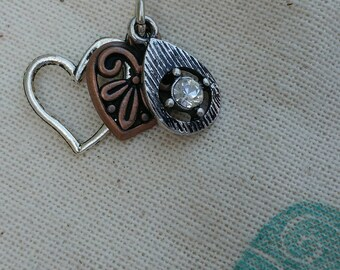 Charms, cluster charms, heart charms