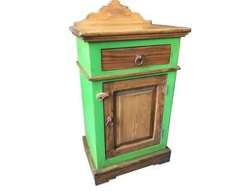 "Mezcalero 19"" Small Jelly Cabinet. Vintage Green"