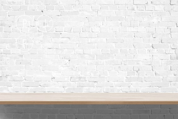 Blank Wall Mockup Brick White Shelf Mock Up Subway Tile