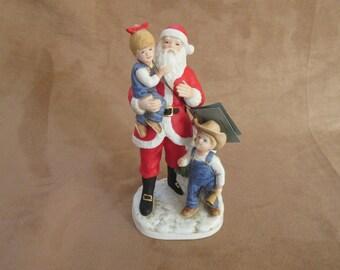 "Vintage Homco, Denim Days, ""I Love Santa!"", ©1985 No. 8951 Figure"