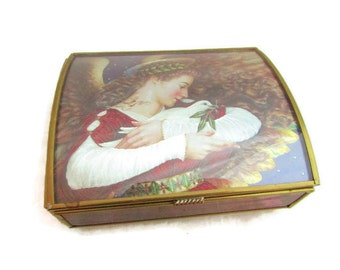 Angel Music Box - Brass and Glass Box by Enesco