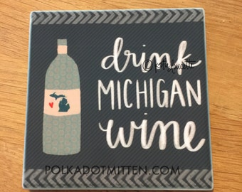 Michigan Wine Sandstone Coaster